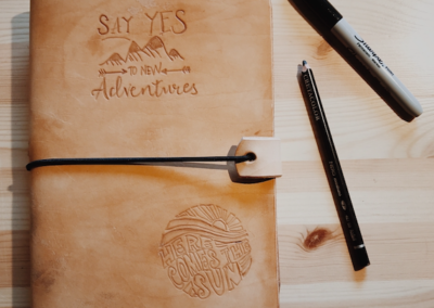 Lederen Notebook cover ✂ donderdag 22/10 namiddag